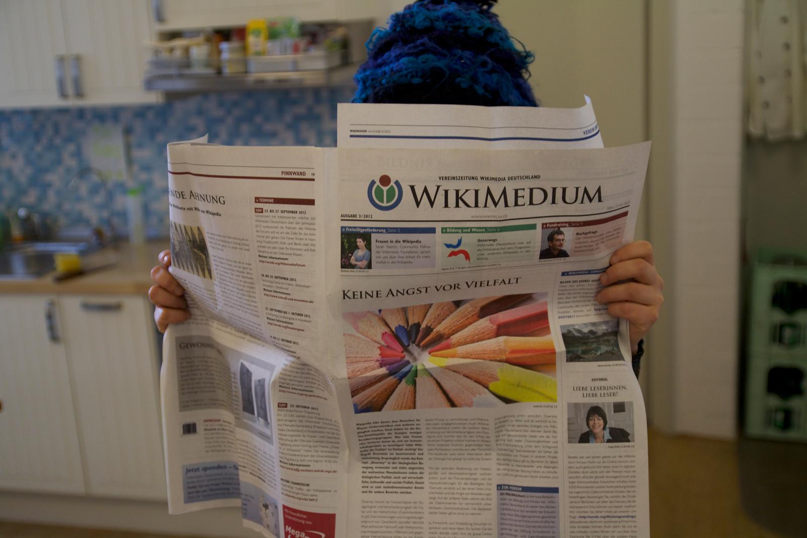 Die Vereinzeitung der Wikimedia war bei uns 2012 in Produktion